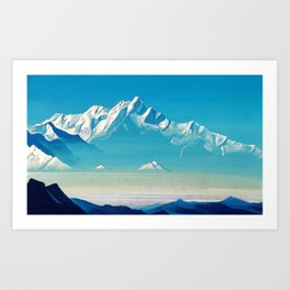 Nicholas Roerich - Mount Of Five Treasures - Digital Remastered Edition Art Print