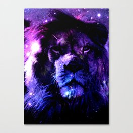 Lion leo purple Canvas Print