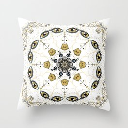 wild eyed women Throw Pillow