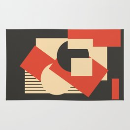 Geometrical abstract art deco mash-up Rug