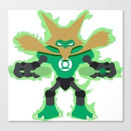 Green Lantern Alakazam Canvas Print