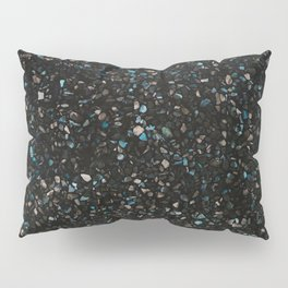 Terrazzo black with turquoise opaque Pillow Sham