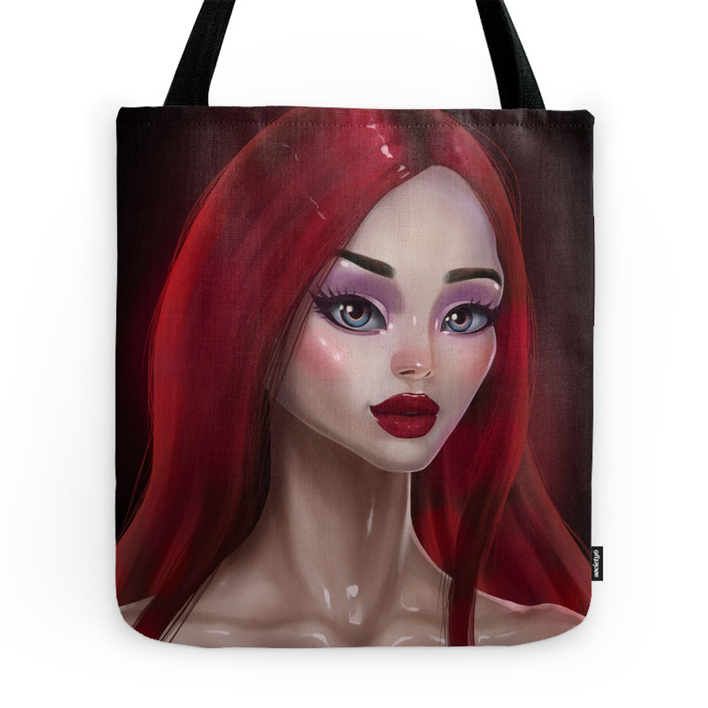 Girl With Red Hair Tote Purse by stoyko (TBG9752338) photo