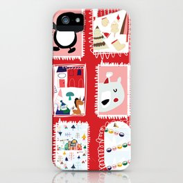 Christmas around the World red #Christmas iPhone Case