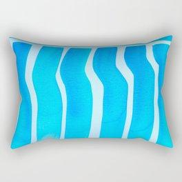 Blue Ripple Two Rectangular Pillow
