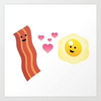 Bacon and Eggs: A love story Art Print