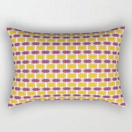 CVPA20019 Boysenberry Purple and Poppy Yellow Dots Rectangular Pillow