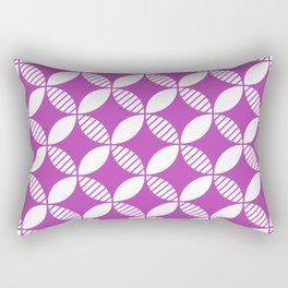 Mid Century Modern Geometric Flower Pattern Magenta 2 Rectangular Pillow