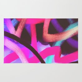 Wild Abstract Art Digital Painting Rug