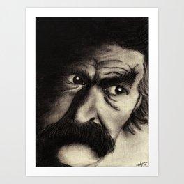 Mark Twain Art Print