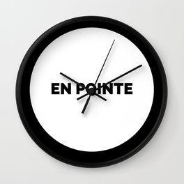 EN POINTE Wall Clock