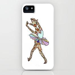 Giraffe Ballerina Tutu iPhone Case