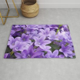 DREAMY - Purple flowers - Bellflower in the sun #1 Rug