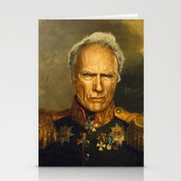 replaceface Stationery Cards featuring Clint Eastwood - replaceface by replaceface