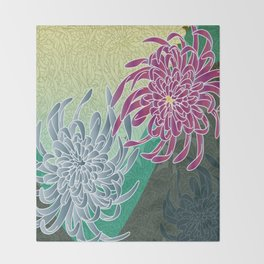chrysanthemums  Throw Blanket