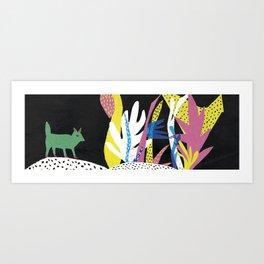 Fox Jungle Art Print