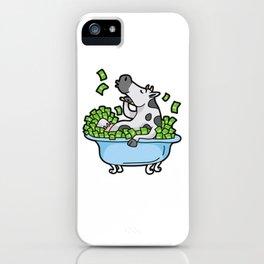 Cash Cow Rich Money Dollar Cash Hustle Manager iPhone Case