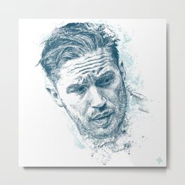 Tom Hardy Metal Print