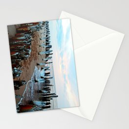 Water licks the Wharf's Remains Stationery Cards