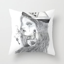 Storm in a tearcup Throw Pillow