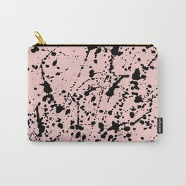 Splat Black on Blush Carry-All Pouch