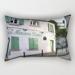 The Pink House Paris Rectangular Pillow