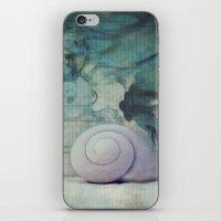shell iPhone & iPod Skins featuring Shell by KunstFabrik_StaticMovement Manu Jobst