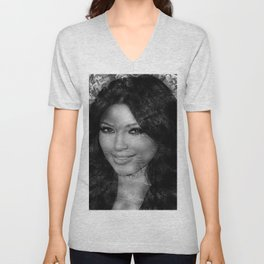 KIM KARDASHIAN (BLACK & WHITE VERSION) Unisex V-Neck