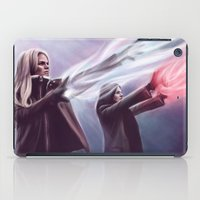evil queen iPad Cases featuring The Savior and the Evil Queen by Svenja Gosen