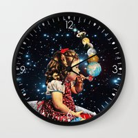 eugenia loli Wall Clocks featuring Maker by Eugenia Loli