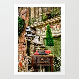 Antique Fireplace Decor Art Print