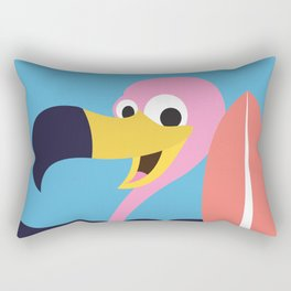 Vulture Surfing Rectangular Pillow
