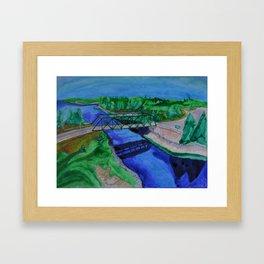 Island Bridge Framed Art Print
