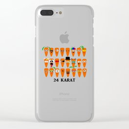 24 Karat Carrots Clear iPhone Case