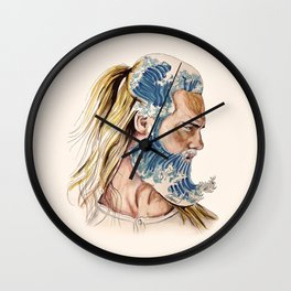 King of waves Wall Clock