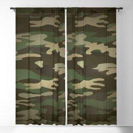 Military Camo Blackout Curtain