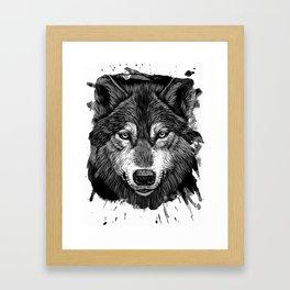 Wolf 2 Framed Art Print