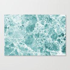 Tropical Sea Green Marble Canvas Print