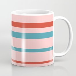 Strawberry Retro Stripes Coffee Mug