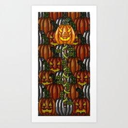 Sinister Pumpkin Staff Art Print
