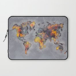 world map 111 #worldmap #world #map Laptop Sleeve