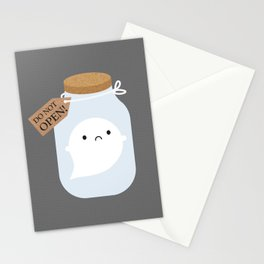 Trapped Little Ghost Stationery Cards