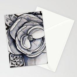Lacy leaf peony Stationery Cards