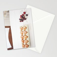 Cherries and eggs Stationery Cards