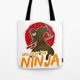 Cute & Funny Unleash The Ninja for Ninja Lovers Tote Bag