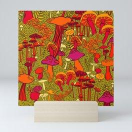 Mushrooms in the Forest Mini Art Print