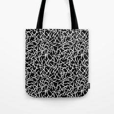 Kerplunk Black and White Repeat #2 Tote Bag