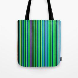 Colorful Barcode Tote Bag