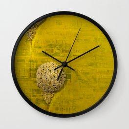 YellowBackdrop Wall Clock