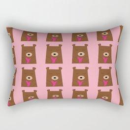 Bear in love pink Rectangular Pillow